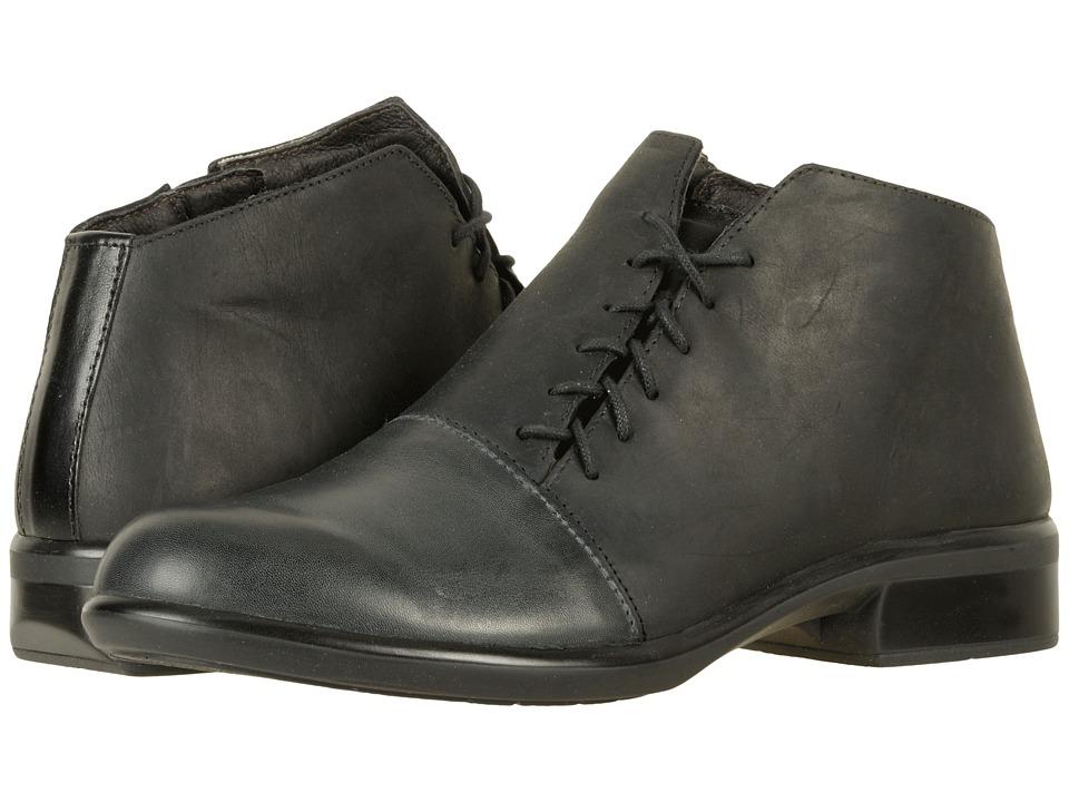Naot Footwear Camden (Vintage Ash Leather/Oily Coal Nubuck/Black Raven Leather/Black M) Women