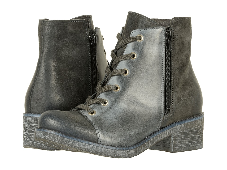 Naot Footwear Groovy (Oily Midnight Suede/Vintage Ash Leather) Women