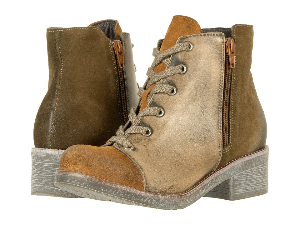 Naot Footwear Groovy (Desert Suede/Vintage Gray Leather/Mulberry Suede) Women
