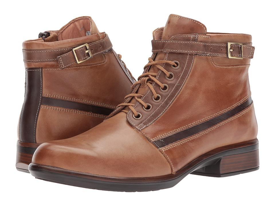 Naot Footwear Kona (Vintage Camel Leather/Saddle Brown Leather/Seal Brown Suede) Women