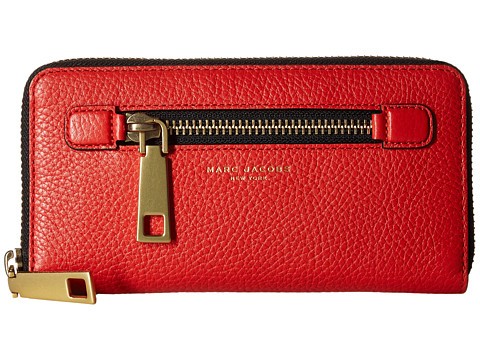 Marc Jacobs Gotham Continental Wallet - Lava Red