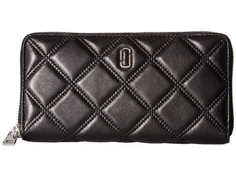 Marc Jacobs Double J Matelasse Standard Continental Wallet - Black