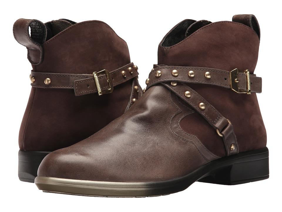 Naot Footwear Taku (Vintage Fog Leather/Coffee Bean Nubuck) Women