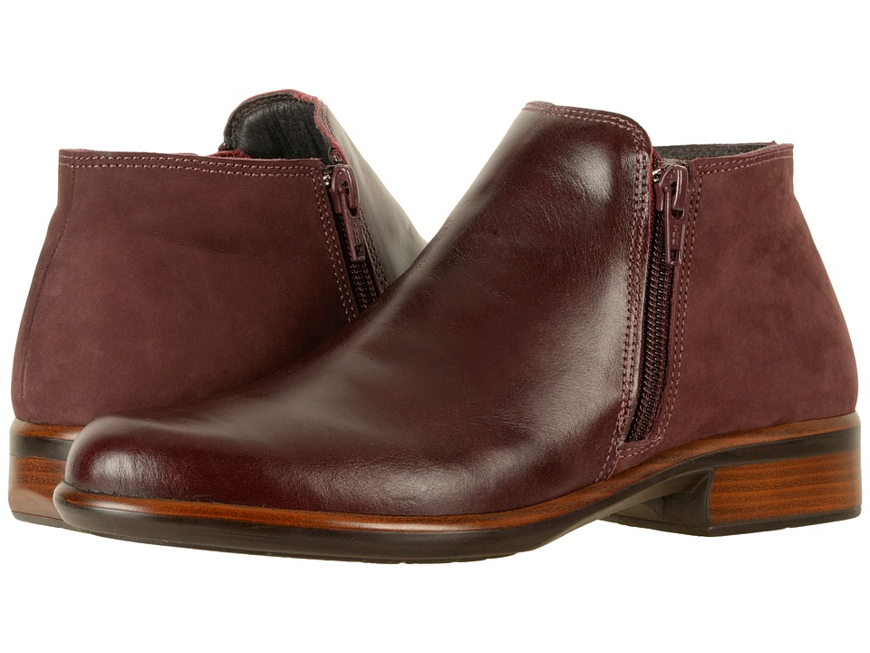 Naot Footwear Helm (Bordeaux Leather/Violet Nubuck) Women