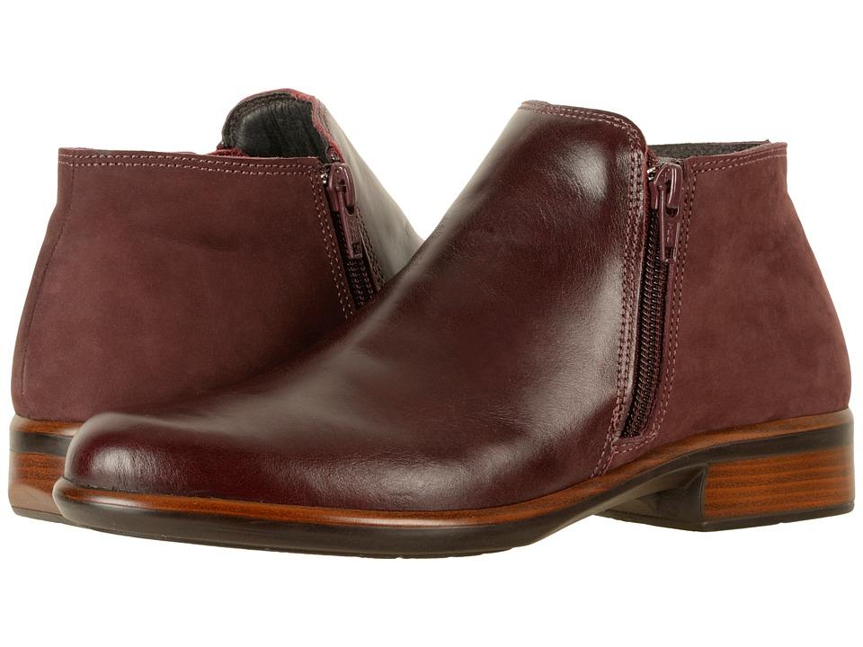 Naot Helm (Bordeaux Leather/Violet Nubuck)