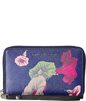 Marc Jacobs - Saffiano Morning Glories Zip Phone Wristlet