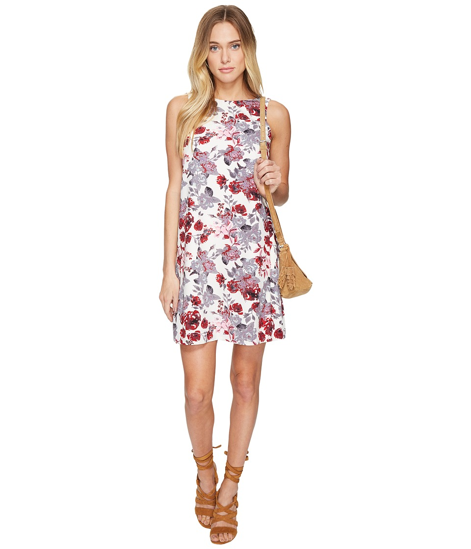 kensie Antique Floral Shift Dress KS2U7S02 (French Vanilla Combo) Women