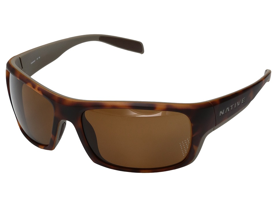 Native Eyewear Eddyline (Desert Tort/Matte Gray) Sport Sunglasses