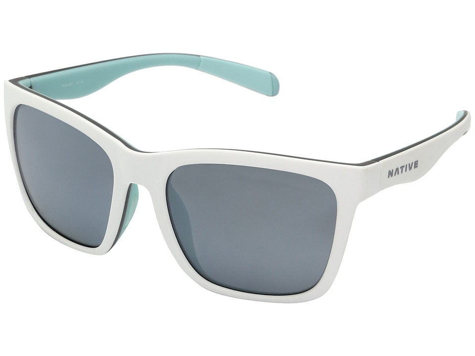 Native Eyewear Braiden (Matte White/Gray/Mint) Sport Sunglasses