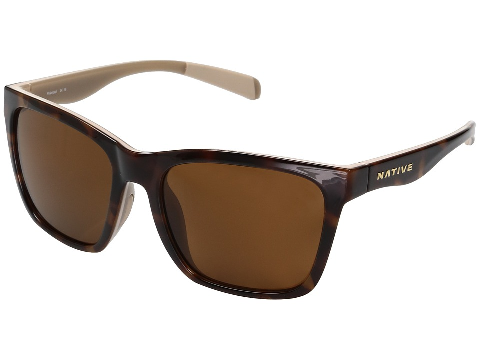 Native Eyewear Braiden (Maple Tort/Pale Pink/Nude Crystal) Sport Sunglasses