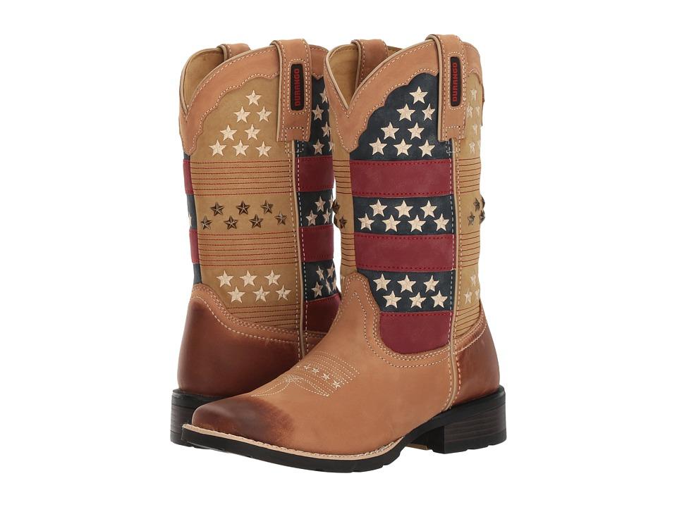 Durango Mustang 10 Americana (Tan/Patriotic) Cowboy Boots