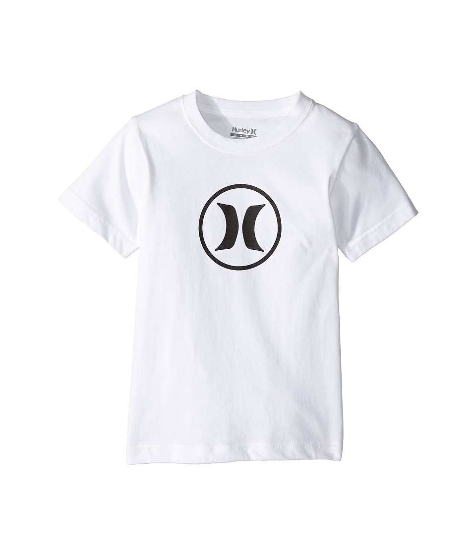 Hurley Kids - Dri Fit Icon Tee (Little Kids) (White) Boys T Shirt