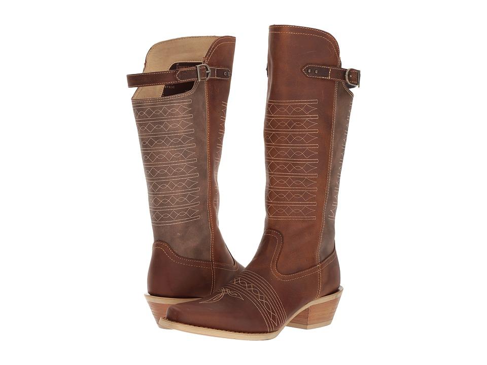Durango Crush 14 Belted Collar (Vintage Brown) Cowboy Boots
