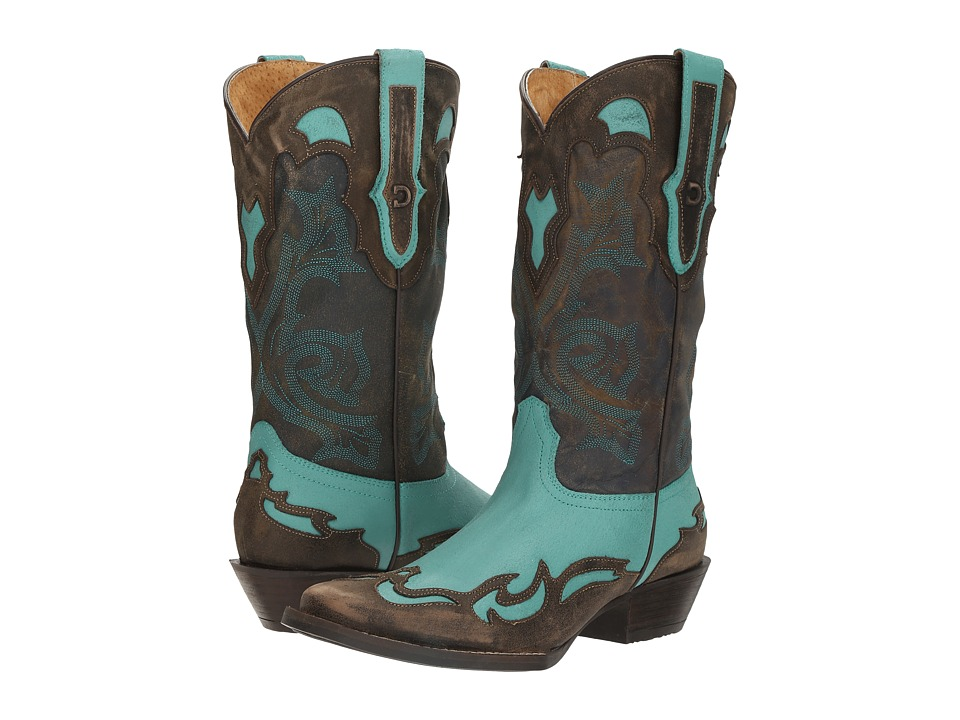 Durango Dream Catcher 12 Wingtip (Turquoise/Aqua Blue) Co...