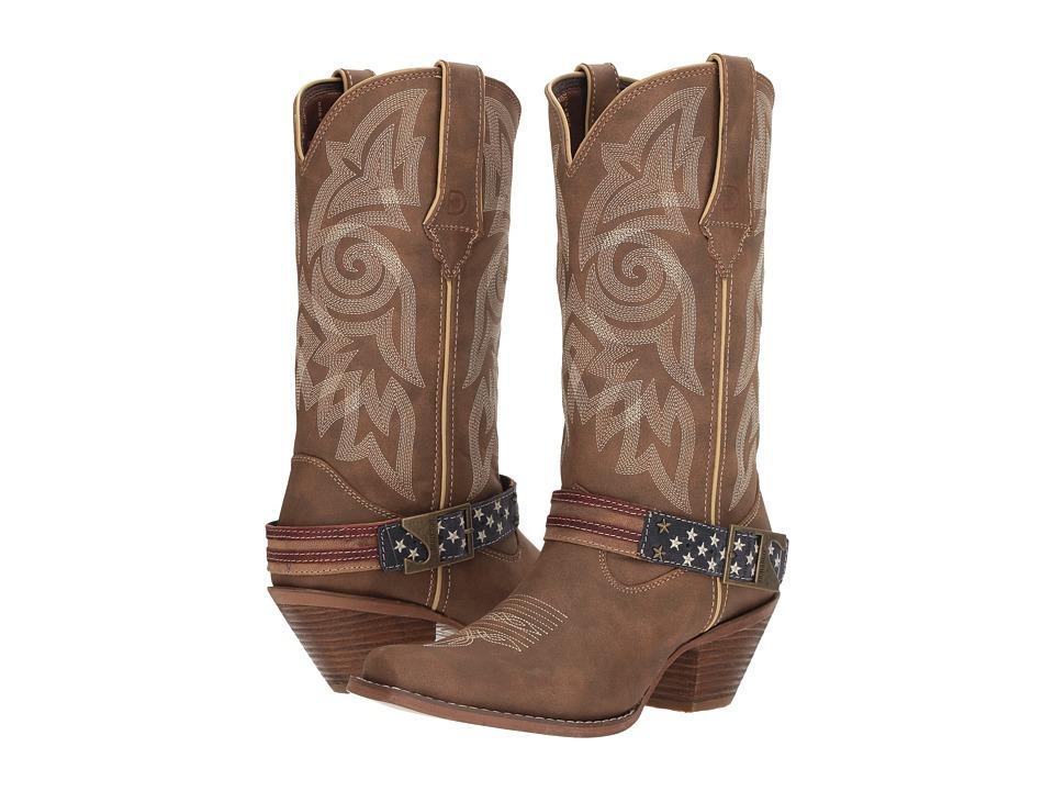 Durango Crush 12 Flag Acessory Strap (Brown/Khaki) Cowboy Boots
