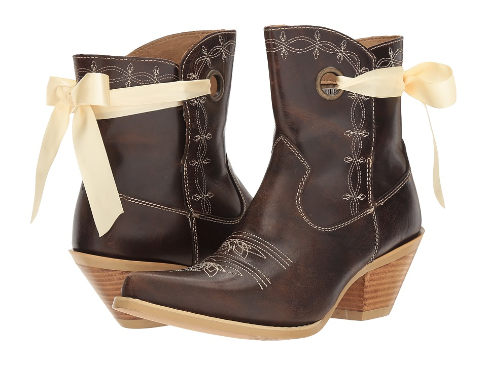 Durango - Crush 7 Ribbon Bootie (Dark Brown) Cowboy Boots