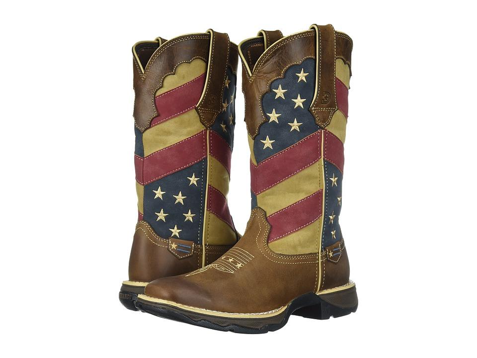 Durango Lady Rebel 11 Flag (Brown/Patriotic) Cowboy Boots