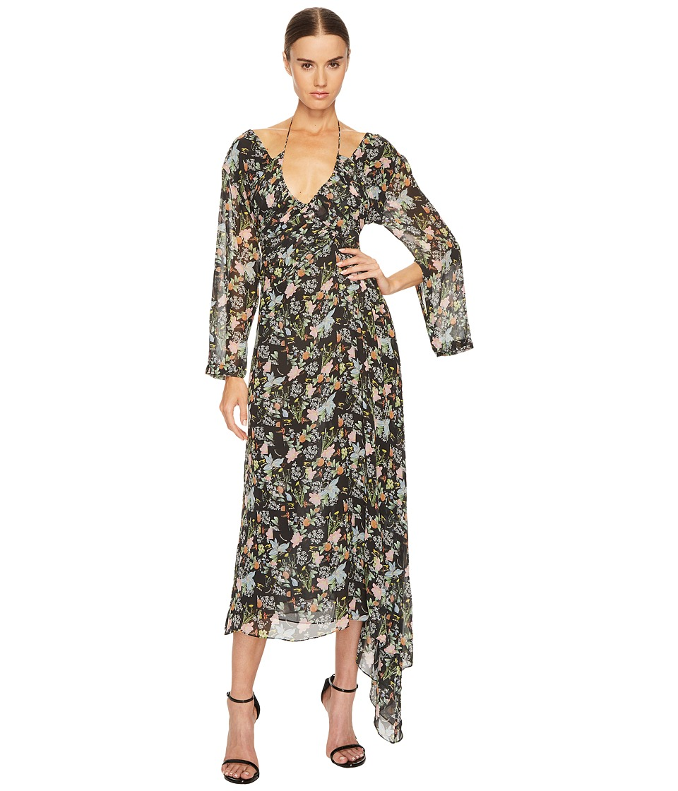 Preen by Thornton Bregazzi - Corinne Dress (Black Floral) Womens Dress