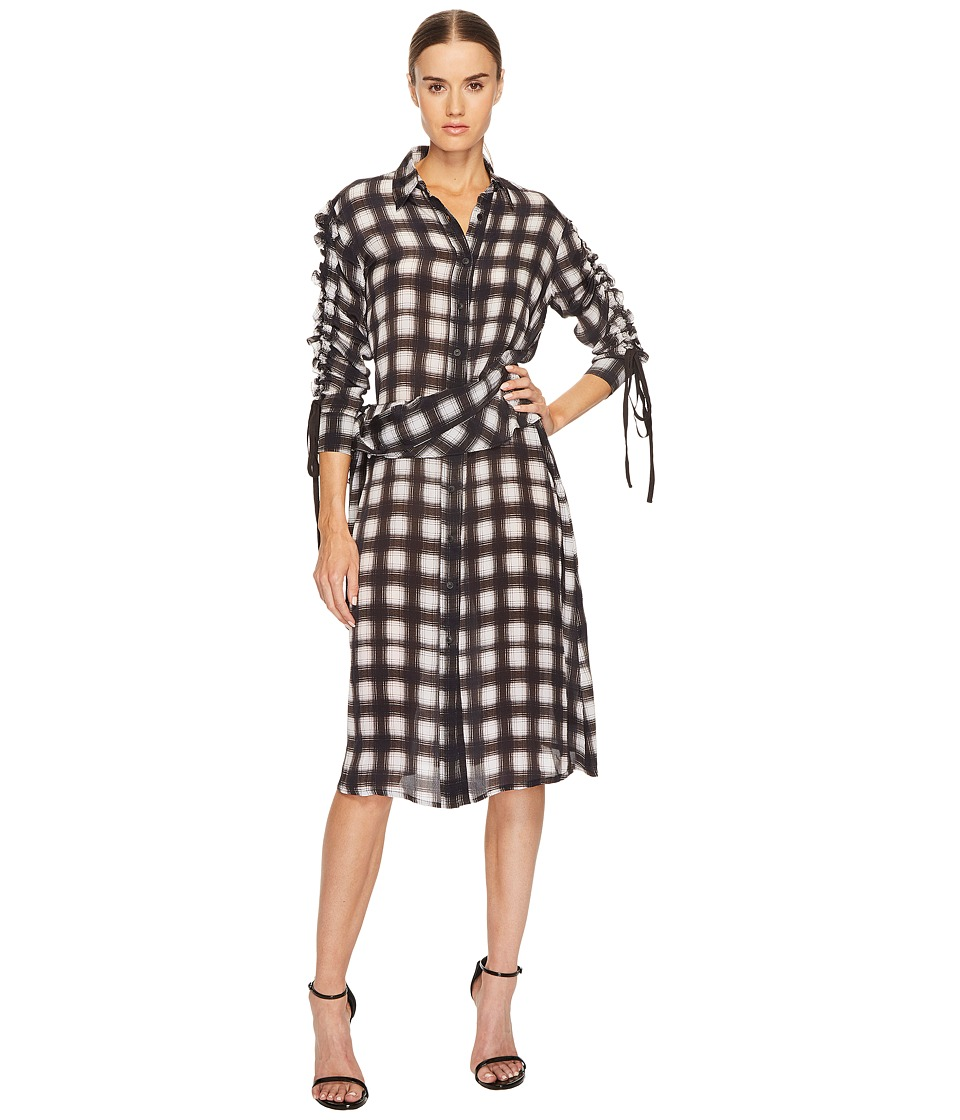 Preen by Thornton Bregazzi - Uri Dress (Black/White Plaid) Womens Dress
