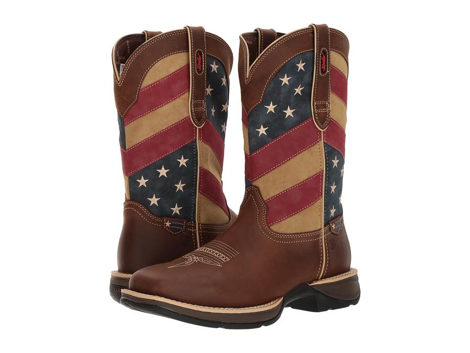 Durango - Rebel 12 Flag (Brown/Patriotic) Cowboy Boots