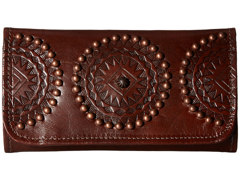 American West Kachina Spirit Trifold Wallet - Chestnut Brown