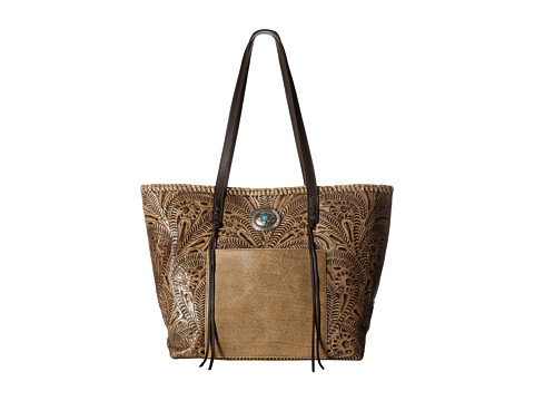 American West Santa Barbara Large Shopper Tote - Sand/Chocolate