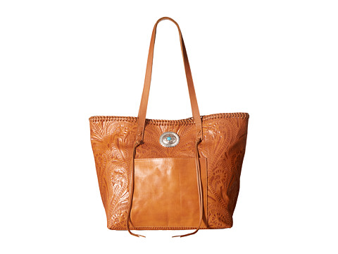 American West Santa Barbara Large Shopper Tote - Golden Tan