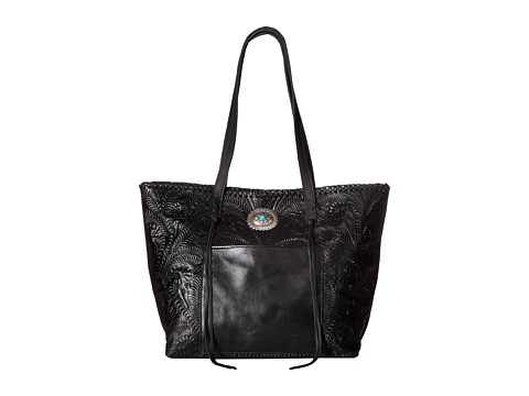 American West Santa Barbara Large Shopper Tote - Black
