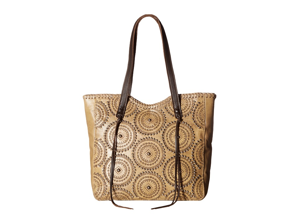 American West Kachina Spirit Large Zip Top Tote (Sand/Cho...