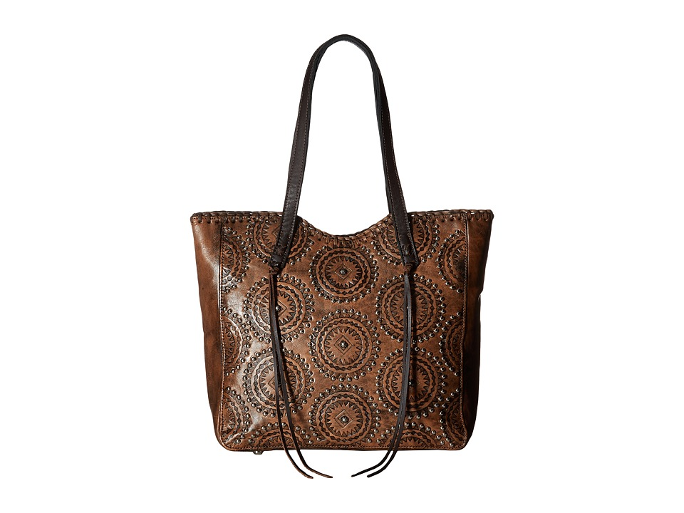 American West Kachina Spirit Large Zip Top Tote (Distress...