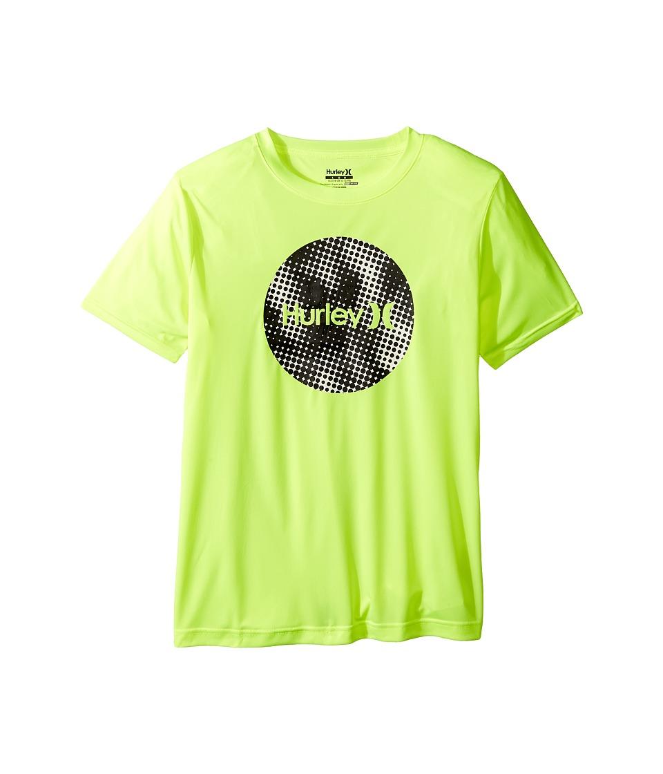 Hurley Kids Sun Protect Krush Short Sleeve Tee (Big Kids) (Volt) Boy