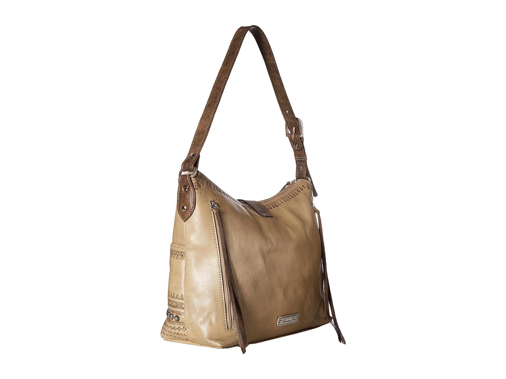 american west trading post large zip top shoulder bag