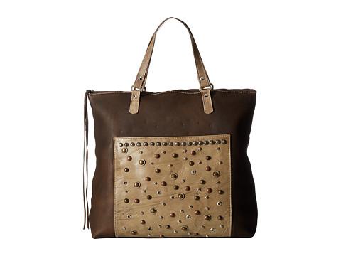 American West Soft Zip Top Bag Pack - Distressed Brown/Sand