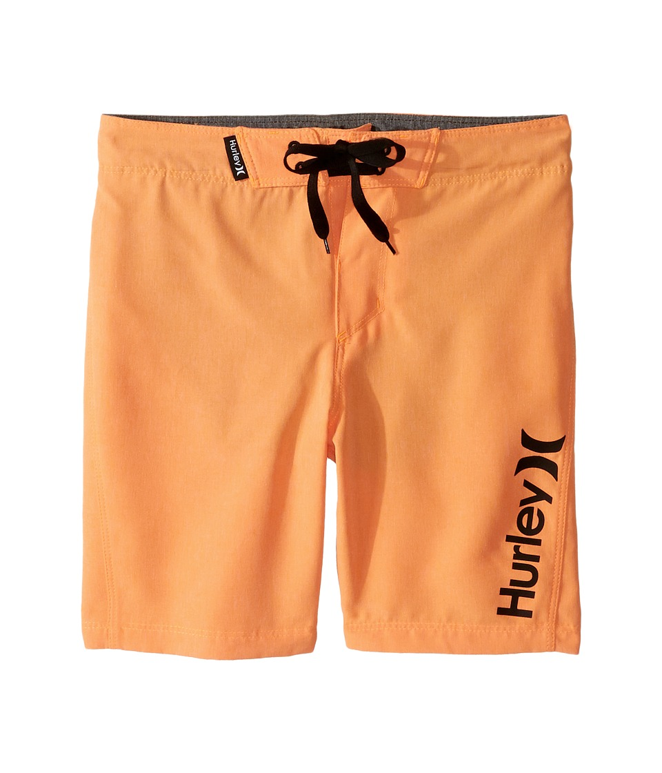 Hurley Kids Heathered Boardshorts (Little Kids) (Bright Citrus Heather) Boy