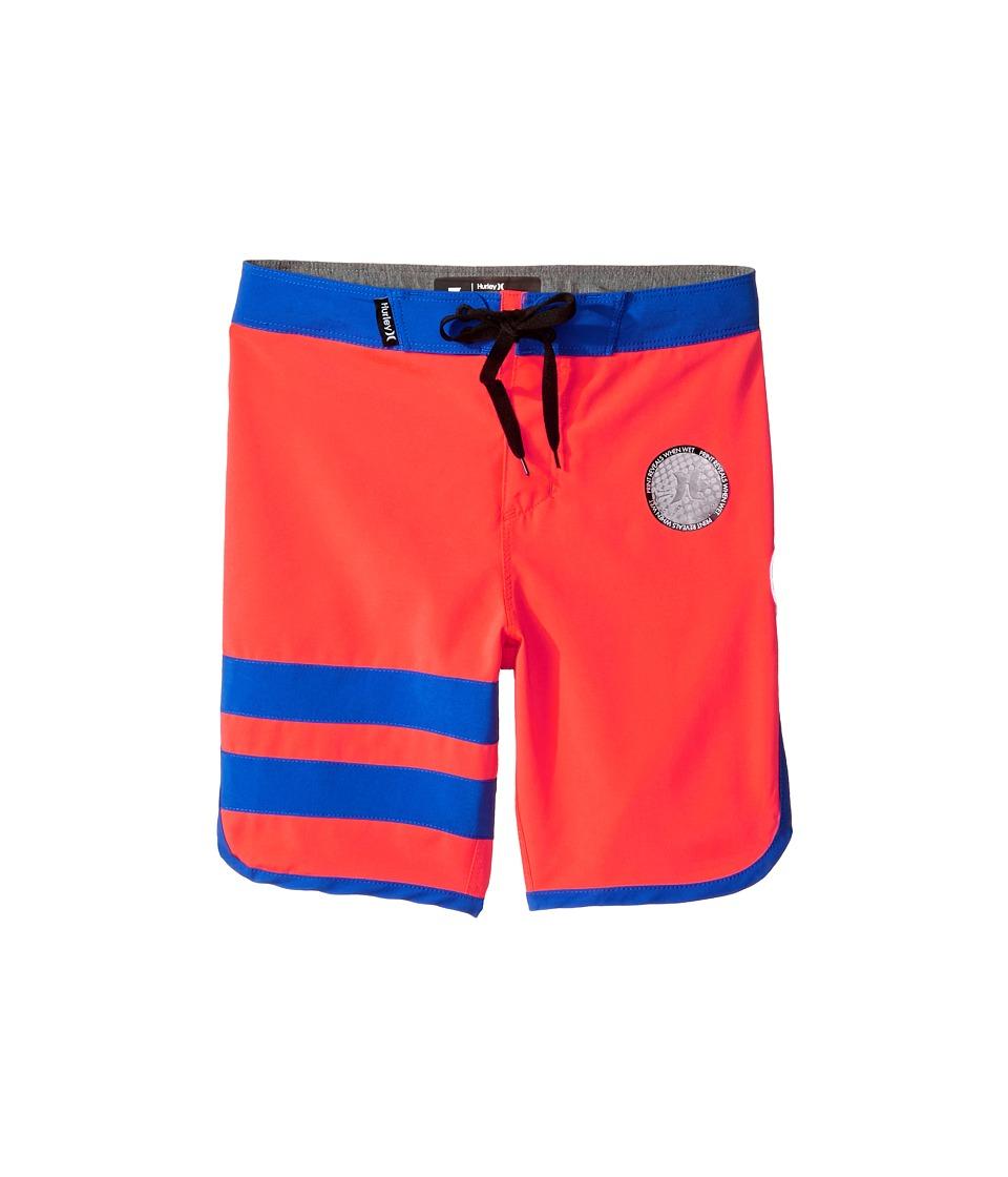 Hurley Kids Print Block Party Boardshorts (Little Kids) (Bright Crimson) Boy