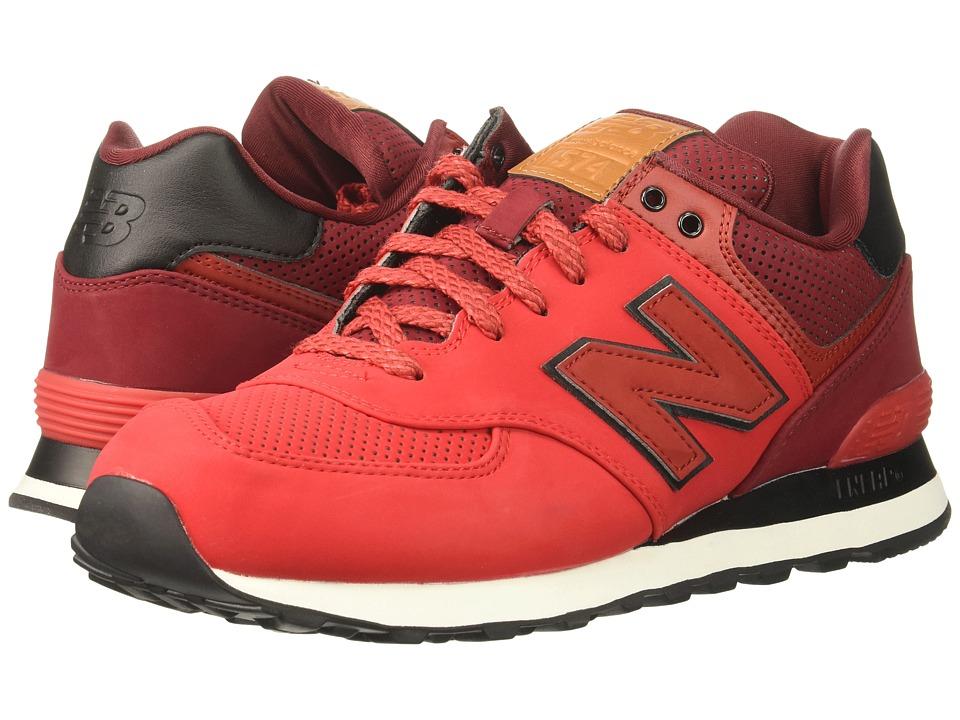 New Balance Classics ML574 (Chinese Red/Mercury Red) Men