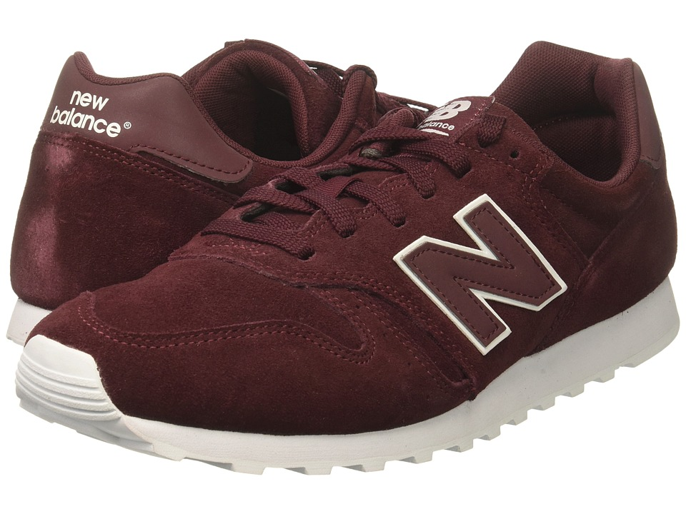 New Balance Classics - ML373 (Burgundy/White) Mens Classic Shoes