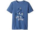 Life is Good Kids Bicycle Kick Soccer Crusher Tee (Little Kids/Big Kids)