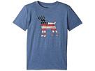Life is Good Kids Dog Flag Cool T-Shirt (Little Kids/Big Kids)