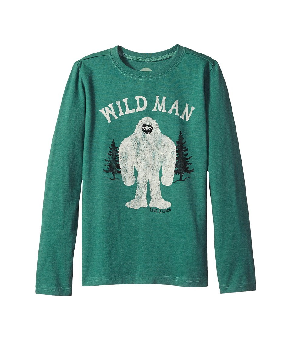 Life is Good Kids - Wild Man Long Sleeve Crusher Tee