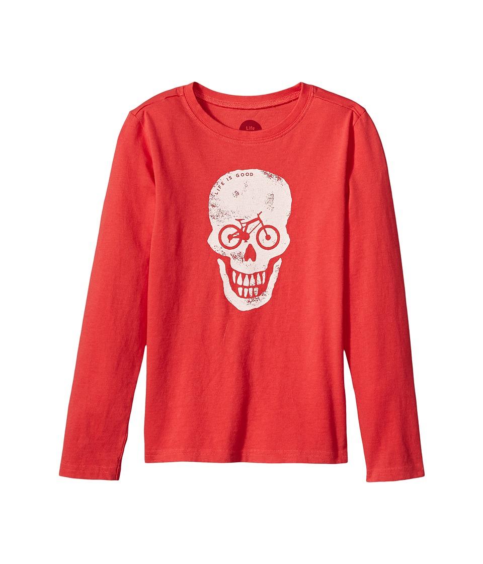 Life is Good Kids - Bike Skull Long Sleeve Crusher Tee