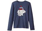 Life is Good Kids Polar Bear Cap Long Sleeve Cool Tee (Little Kids/Big Kids)