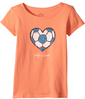 Life is Good Kids - Soccer Heart Crusher Tee (Little Kids/Big Kids)
