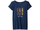 Life is Good Kids - Human Crayons Crusher Tee (Little Kids/Big Kids)