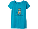 Life is Good Kids Four Legged Word Cat Crusher Tee (Little Kids/Big Kids)