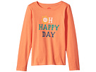 Life is Good Kids Oh Happy Day Long Sleeve Crusher Tee (Little Kids/Big Kids)