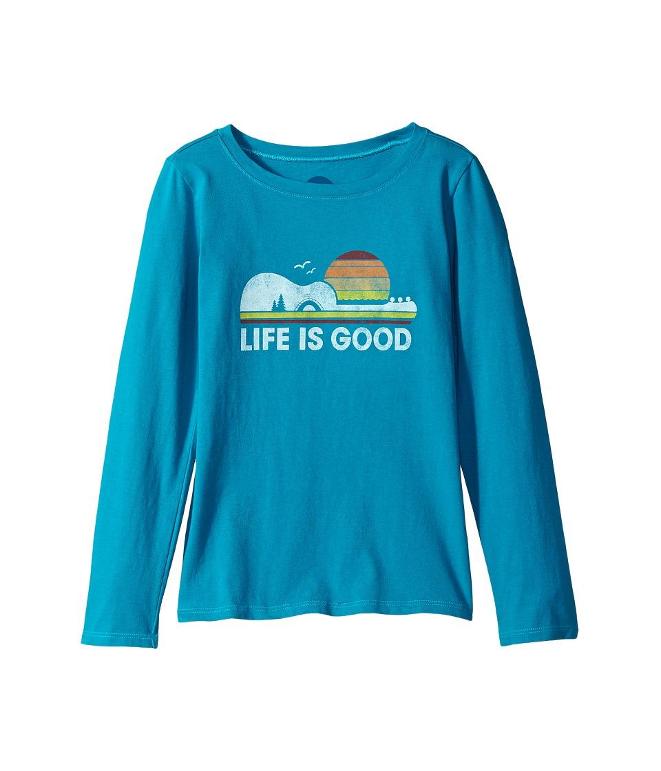 Life is Good Kids - Camp Guitar Long Sleeve Crusher Tee