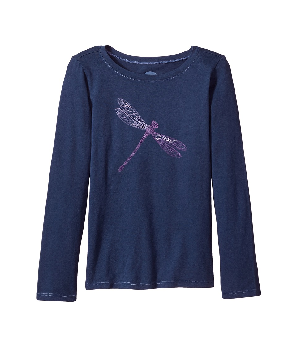 Life is Good Kids - Dragonfly Pattern Long Sleeve Crusher Tee