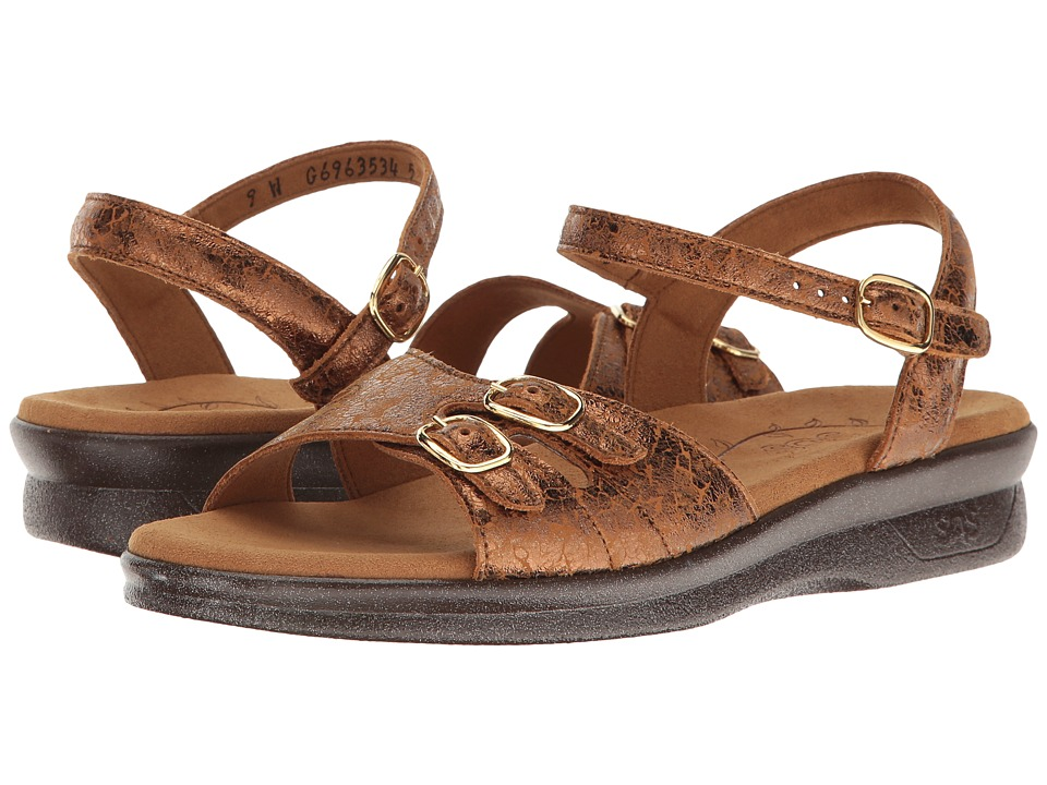 SAS Duo (Five (Bronze Crackle)) Women's Shoes