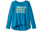 Life is Good Kids Hello Sunshine Long Sleeve Scoop Neck Swing Tee (Little Kids/Big Kids)